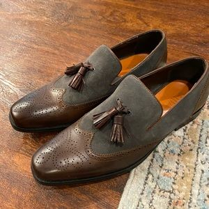 Men's TALLIA Orange loafer shoes.